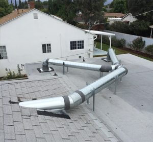 AC duct install outside