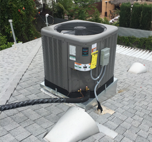 AC installed on roof